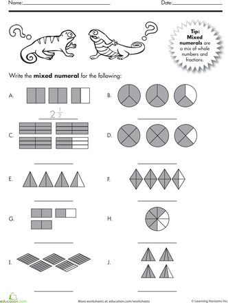mixed numbers articles worksheets and fractions. Black Bedroom Furniture Sets. Home Design Ideas