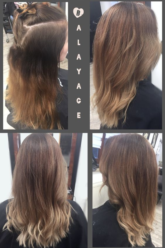 Balayage longhair lange haare sombr ombr blond blonde for Ombre blond braun