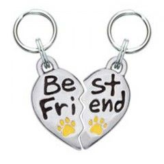 Best Friend Word Dog Charm