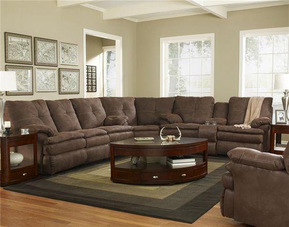 910 Abileene Dark Brown Sectional Sofa by Shea Austin