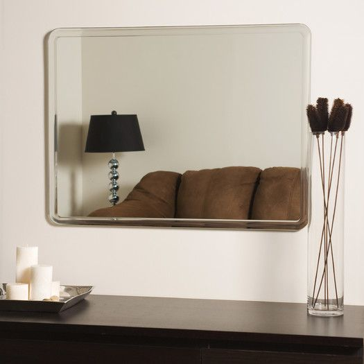 Features:  -Includes mounting hardware.  -Contemporary style.  -Beveled glass…