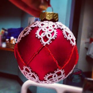 Tatted Christmas ornaments: