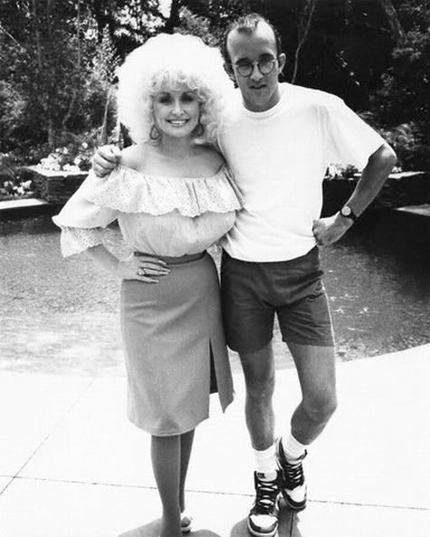 Dolly Parton and Keith Haring
