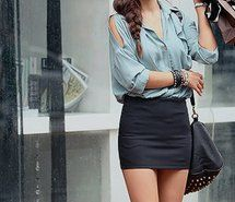 bagy tops & tight skirts....love | My Style & Fashion Inspirations ...