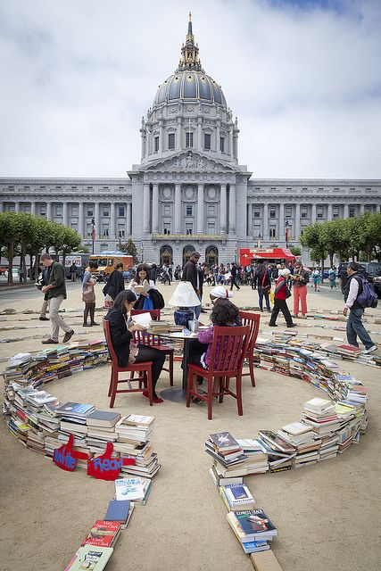 Literary Labyrinth at the International poetry festival in San francisco transmedia activism project for non profit IPLSF