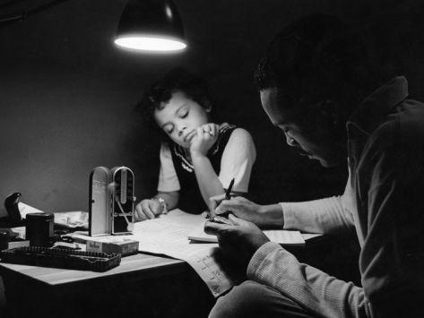 Quincy Jones with daughter, Rashida 1961