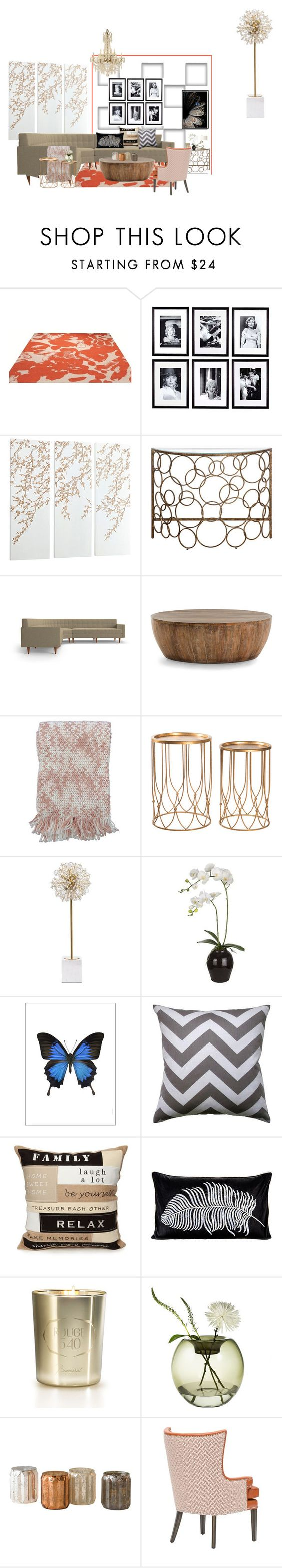 """stylish space"" by lindagama on Polyvore featuring interior, interiors, interior design, home, home decor, interior decorating, ESPRIT, Eichholtz, Cyan Design and Arteriors"