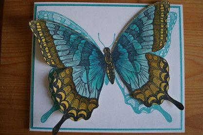 Hintergrundstempel Swallowtail koloriert mit Mix-Markern in jade und osterglocke. Patricia Stich - Unabhängige Stampin´Up! Demonstratorin