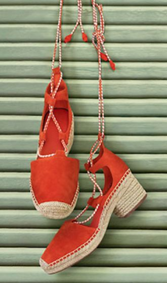 love these orange summer espadrilles