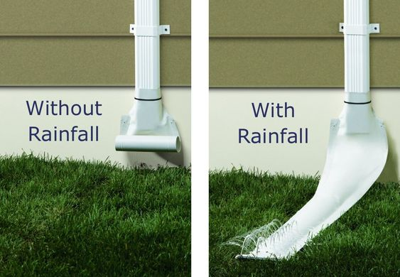 Get all knowledge about gutter downspout extension with - Rain gutter downspout diffuser ...