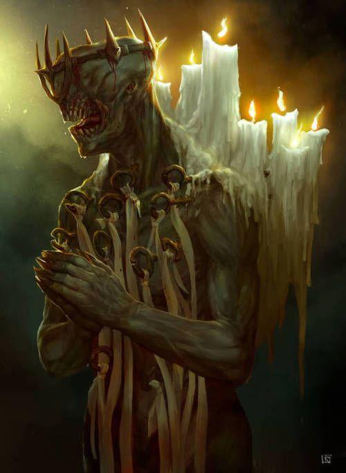 Framed Print Gothic Horror Nightmarish Demon Creature Picture Poster Death
