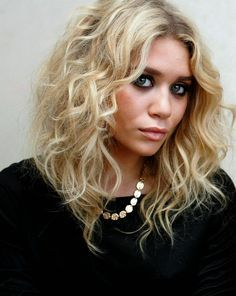 asymmetrical long curly bob - Google Search