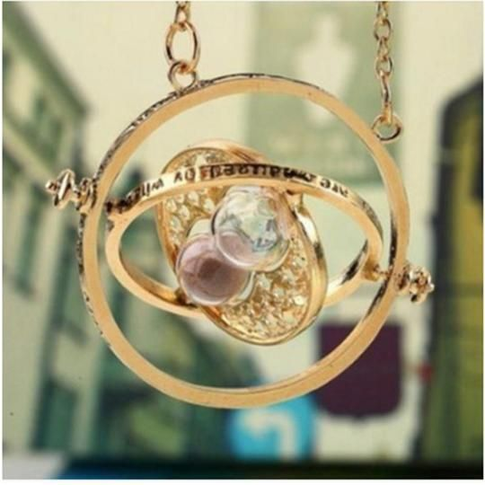 Hermione Granger Rotating Time Turner Necklace Gold Hourglass 1pcintot Intothea Harry Potter Necklace Time Turner Necklace Harry Potter Cosplay