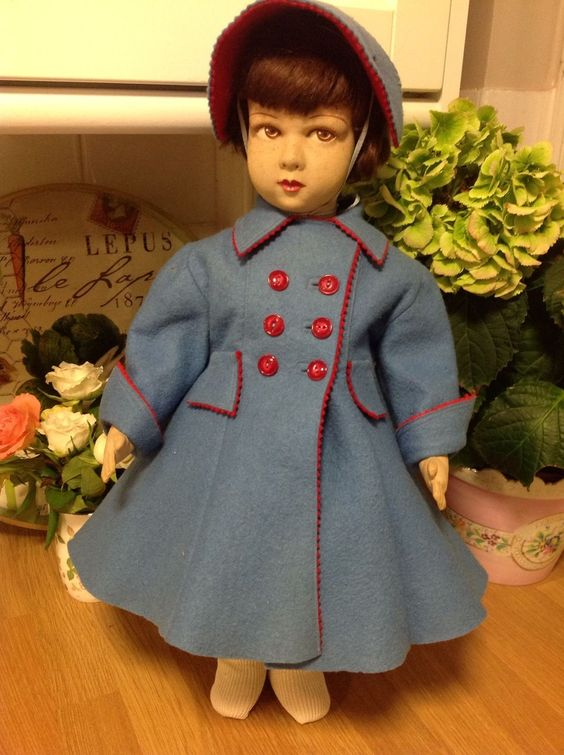 "French Character 19"" Raynal Painted Felt Princess Doll 1930s RARE Doll 