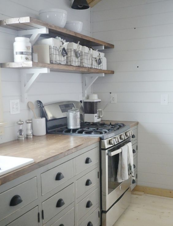 Best Ana White Cabin Kitchens And Open Shelves On Pinterest 400 x 300