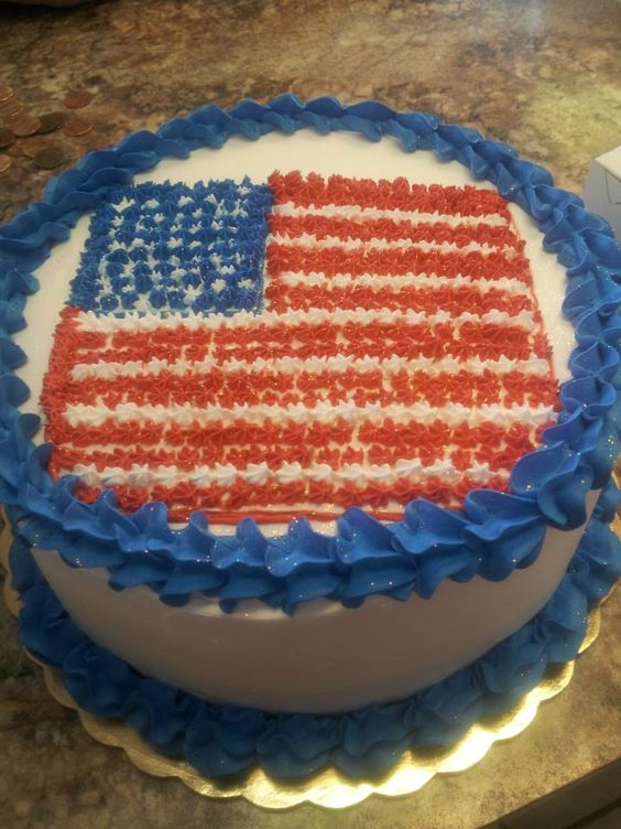American Flag Birthday Cake By Rolys Bakery Rolys Bakery Cakes