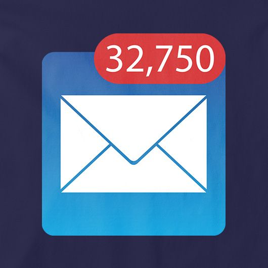 Full Inbox - 32,750 Unread Emails | Funimatic | Inbox, Funny tshirts, Email