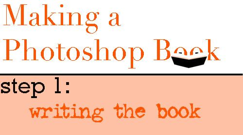 Making a Picture Book in Photoshop: a Tutorial