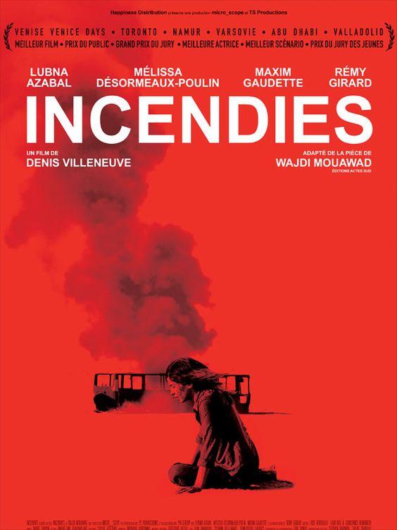Incendies est un film de Denis Villeneuve avec Rémy Girard, Lubna Azabal. Un film qui laisse sans voix. Intense