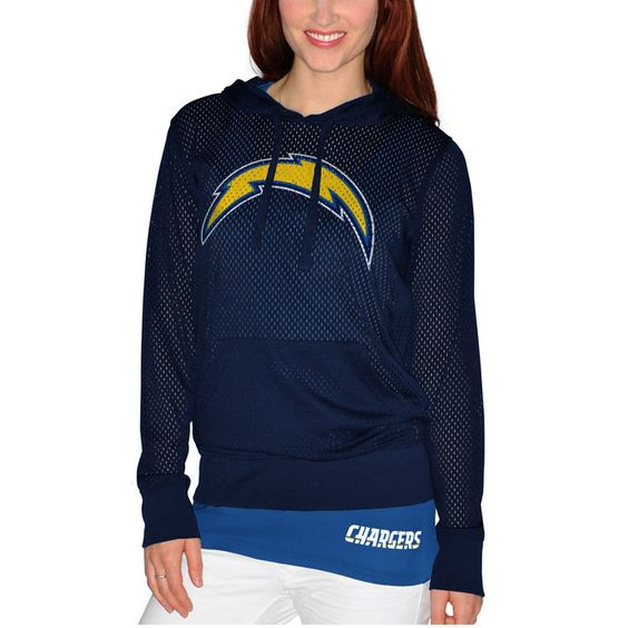 San Diego Chargers Women's Holey Hooded T-Shirt & Tank Top Set ...