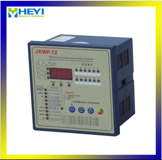 Jkwf 12 Split Phase Power Factor Correction Controller 12 Step Lcd Reactive Power Automatic Compensation Controller Power Save Energy Lcd
