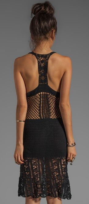 Crochet LITTLE BLACK DRESS: