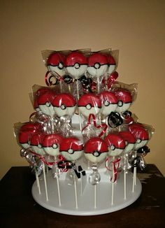 Pokeball Chocolate Covered Oreos by Unknown