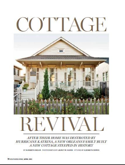 House creole cottage and southern living magazine on for Cottage home magazine