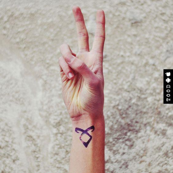 Galaxy Angelic Power Rune Temporary Tattoo