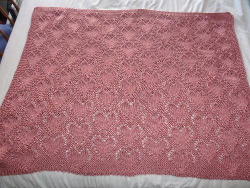 Free Knitting Patterns Baby Blankets Hearts : Knitting patterns, Blog and Heart patterns on Pinterest