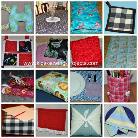 Sewing for the home Camp -http://www.kids-sewing-projects.com/kids-sewing-camp.html