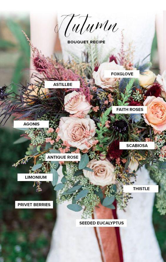 Autumn bouquet recipe + bridal inspiration