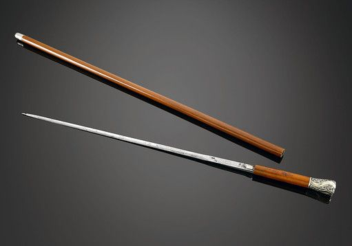 Antique Canes and Walking Sticks, Weapon Canes, Toledo Sword Cane ~  ///// Viktor uses a sword cane as self protection due to his hatred of guns.