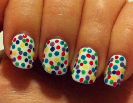 multicolor polka dots