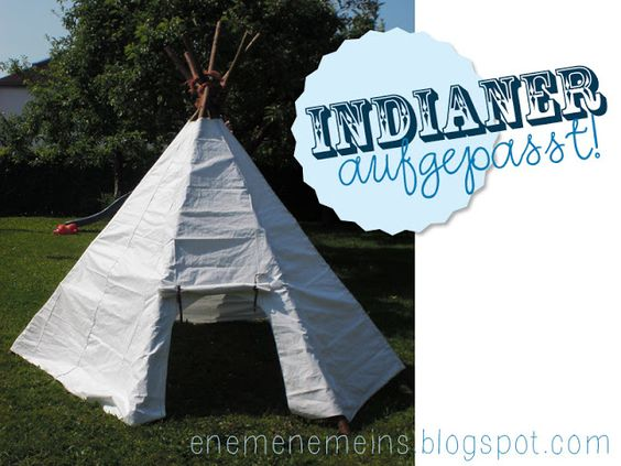 tipi zelt f r indianer tutorial m dchen jungen. Black Bedroom Furniture Sets. Home Design Ideas