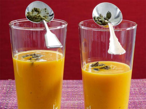 Rezepte für Kürbissuppen: Kürbissuppe mit Orange