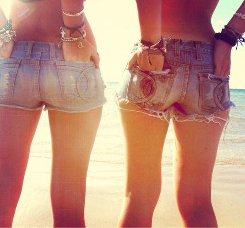 Denim shorts perfect summer outfit... Just add bikini and tan <3