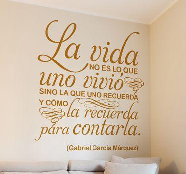 Vinilo decorativo Gabriel García Márquez