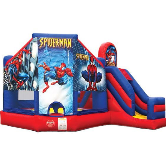 Inflatable Water Slides Naples Fl: SPIDERMAN 5in1 Combo Everyboy Dreams Of Being A Super Hero