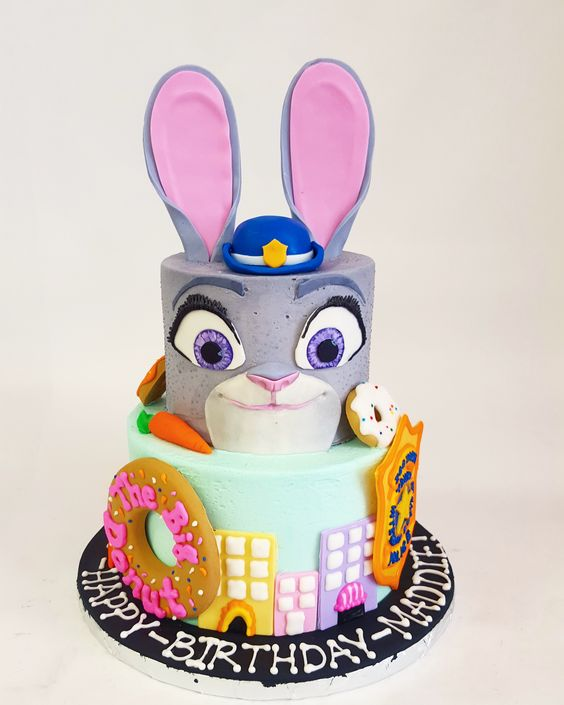 This Zootopia cake would make Judy Hopps one happy bunny.: