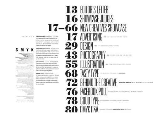 Excellent Table Of Contents Design Examples  Yearbook