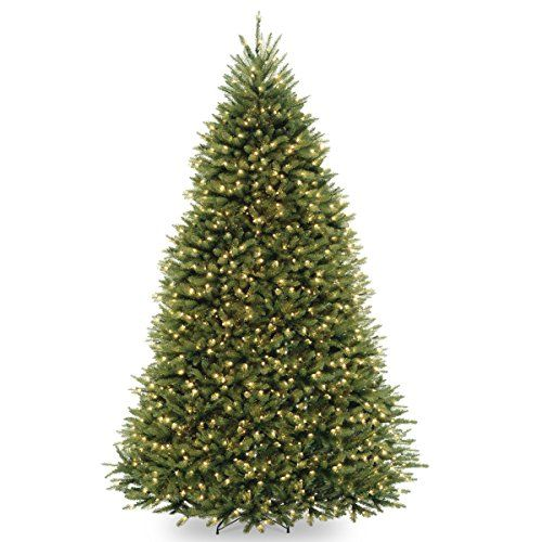 National Tree 10 Foot Dunhill Fir Tree With 1200 Dual Led Lights And 9 Function Fo Pre Lit Christmas Tree Christmas Tree Clear Lights Artificial Christmas Tree
