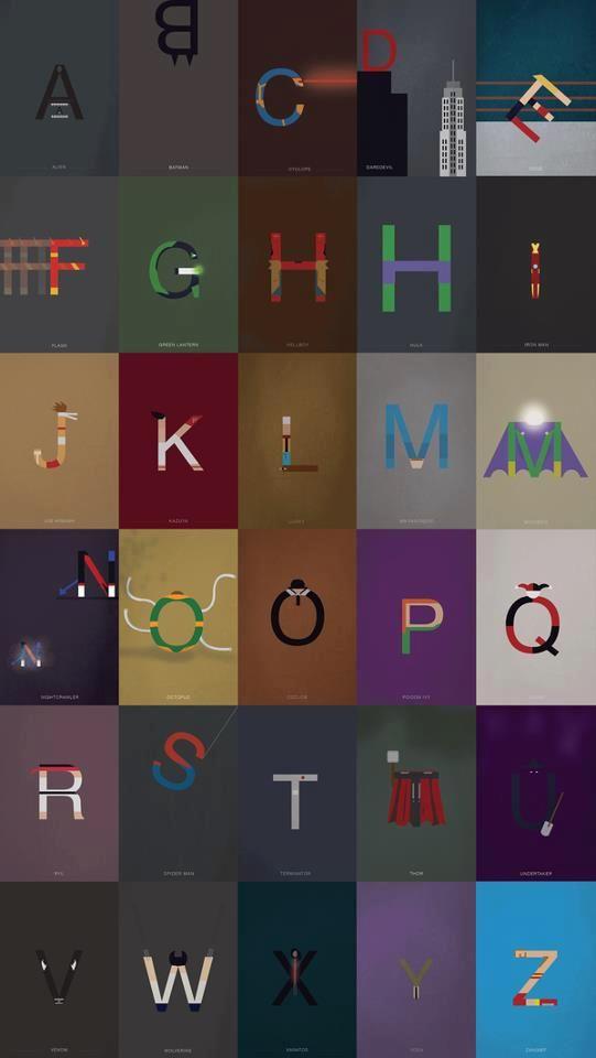 Super-Helvetica l Designer francês faz brincadeira com a tipografia mais famosa do mundo, transformando letras em super-heróis.