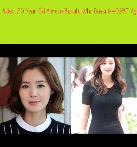50 Year Old Korean Beauty Who Doesn 039 T Age Shares Her Secrets To Looking Young Forever Kim Sung Ryung Aged 50 Born Febr Korean Beauty Beauty Look Younger