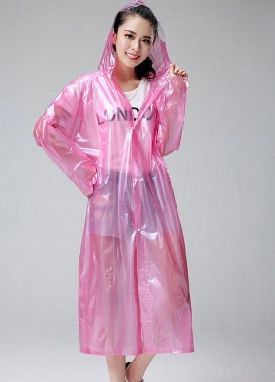 Transpa Pink Raincoat Off 78, Pink Plastic Trench Coat
