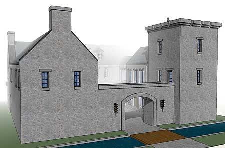 scottish castle house plan