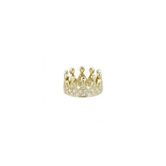 CROWN RING (€63) ❤ liked on Polyvore featuring jewelry, rings, accessories, crown jewelry, couture jewelry and crown ring