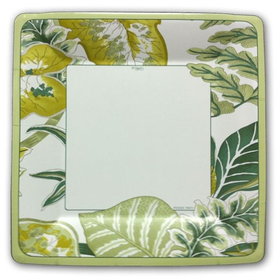 Florida Green Square Dinner Plates