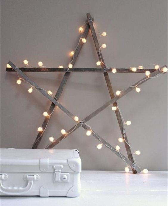 una estrella navidea rstica es justo lo que tu casa necesita esta navidad