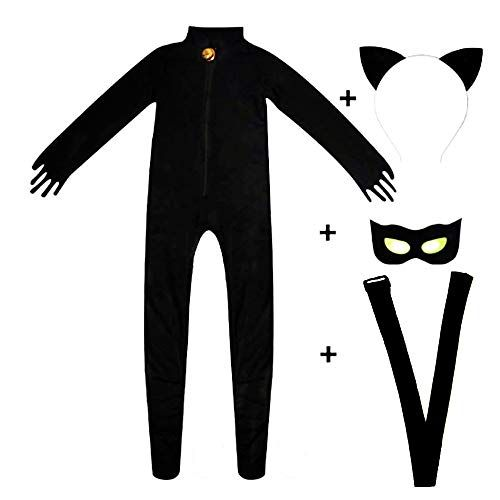 Kid S Miraculous Ladybug Cat Cosplay Jumpsuit Boy S Girls Costume